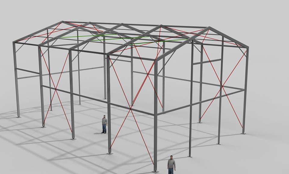 plano estructura carpa exterior