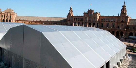 Carpa en plaza de España